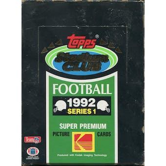 1992 Topps Stadium Club Series 1 Football Hobby Box