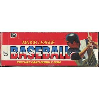 1976 Topps Baseball Wax Box