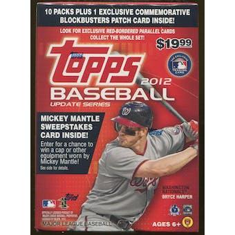 2012 Topps Update Baseball 10-Pack Box (PLUS 1 Commemorative Patch)