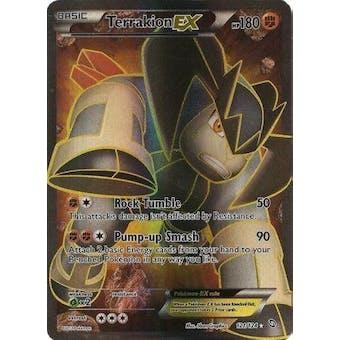 Pokemon Dragons Exalted Single Terrakion ex FULL ART 121/124 - NEAR MINT (NM)