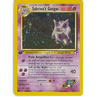 Pokemon Gym Heroes 1st Edition Single Sabrina's Gengar 14/132