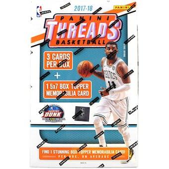 2017/18 Panini Threads Basketball 5x7 Jumbo Jersey Blaster Box