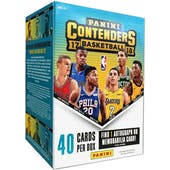 2017/18 Panini Contenders Basketball 5-Pack Blaster Box