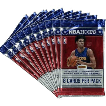 2017/18 Panini Hoops Basketball Blaster Pack (Lot of 11) = 1 Blaster Box