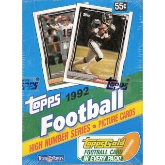 1992 Topps Series 3 Football Wax Box (High #'s)