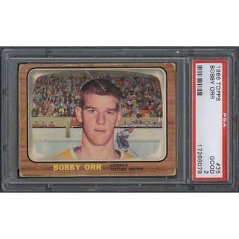 1966/67 Topps Hockey #35 Bobby Orr Rookie PSA 2 (GOOD) *8078