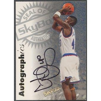 1997/98 SkyBox Premium #23 Calbert Cheaney Autographics Auto