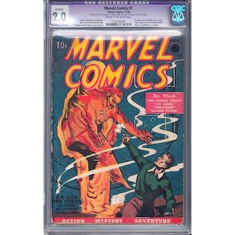 Marvel Comics #1 CGC 2.0 (C-OW) Moderate Restoration (A) *1135164001*