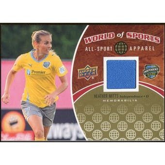 2010 Upper Deck World of Sports All-Sport Apparel Memorabilia #ASA18 Heather Mitts
