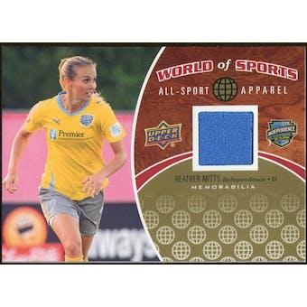 2010 Upper Deck World of Sports All-Sport Apparel Memorabilia #ASA18 Heather Mitts