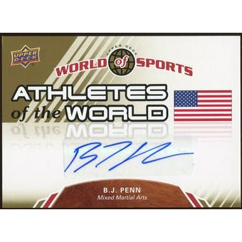 2010 Upper Deck World of Sports Athletes of the World Autographs #AW54 BJ Penn