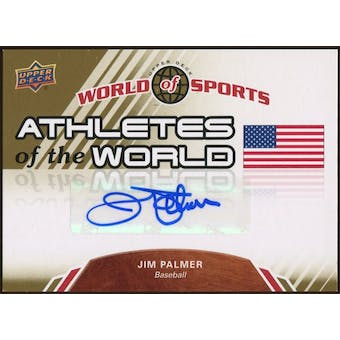 2010 Upper Deck World of Sports Athletes of the World Autographs #AW100 Jim Palmer
