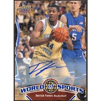 2010 Upper Deck World of Sports Autographs #41 Derrick Favors
