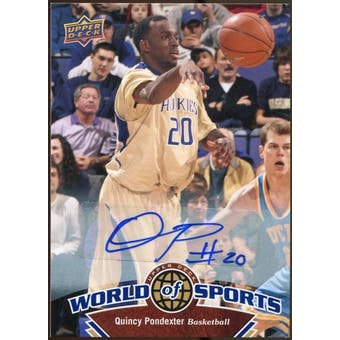 2010 Upper Deck World of Sports Autographs #49 Quincy Pondexter