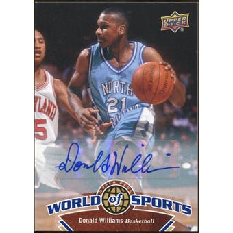 2010 Upper Deck World of Sports Autographs #58 Donald Williams