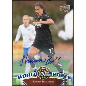 2010 Upper Deck World of Sports Autographs #109 Shannon Boxx