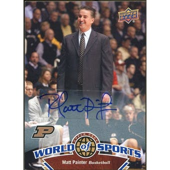 2010 Upper Deck World of Sports Autographs #347 Matt Painter