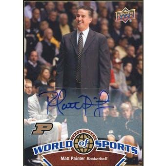 2010 Upper Deck World of Sports Autographs #347 Matt Painter