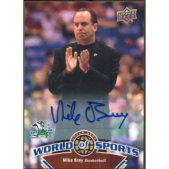 2010 Upper Deck World of Sports Autographs #374 Mike Brey