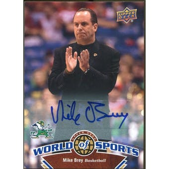 2010 Upper Deck World of Sports Autographs #374 Mike Brey