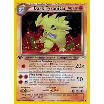 Pokemon Neo Destiny 1st Edition Single Dark Tyranitar 11/105 - NEAR MINT (NM)