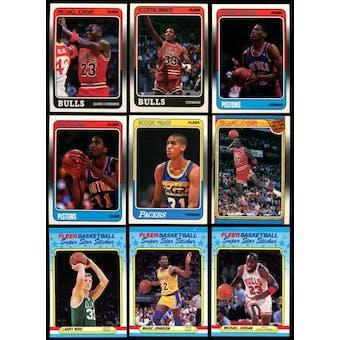 1988/89 Fleer Basketball Complete Set w/Stickers (NM-MT)