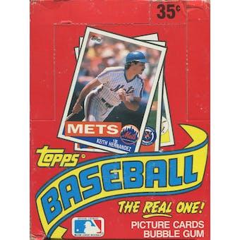 1985 Topps Baseball Wax Box