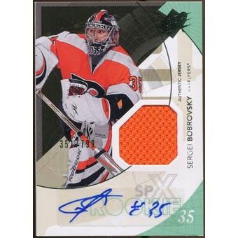 2010/11 Upper Deck SPx #186 Sergei Bobrovsky Jersey Autograph /799