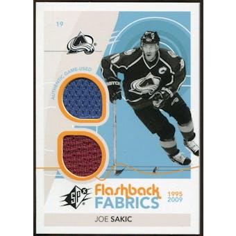 2010/11 Upper Deck SPx #217 Joe Sakic FF Jersey