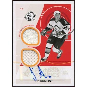 2010/11 Upper Deck SPx #241 J.P. Dumont FF Jersey Autograph