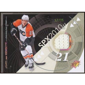 2010/11 Upper Deck SPx Spectrum #72 James van Riemsdyk Jersey 17/25