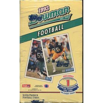 1993 Bowman Football Hobby Box (Reed Buy)