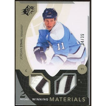 2010/11 Upper Deck SPx Winning Materials Patches #WMJS Jordan Staal 34/35