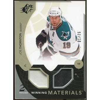 2010/11 Upper Deck SPx Winning Materials Patches #WMJT Joe Thornton 31/35