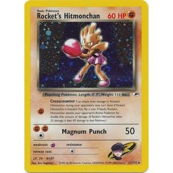 Pokemon Gym Heroes Single Rocket's Hitmonchan 11/132 - NEAR MINT (NM)