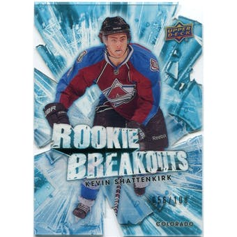 2010/11 Upper Deck Rookie Breakouts #RB11 Kevin Shattenkirk /100