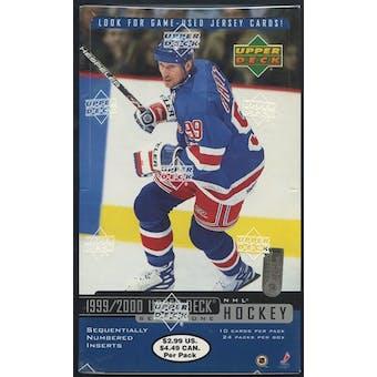 1999/00 Upper Deck Series 1 Hockey Prepriced Box