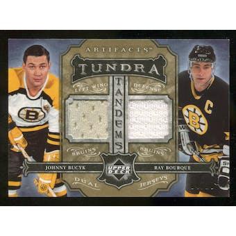 06/07 UD Artifacts #4/10 Boston Bruins Tundra Jerseys Ray Bourque / Johhny Bucyk