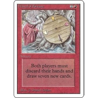 Magic the Gathering Unlimited Single Wheel of Fortune - SLIGHT PLAY (SP)