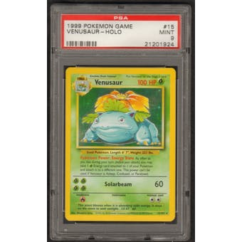 Pokemon Base Set 1 Single Venusaur 15/102 - PSA 9