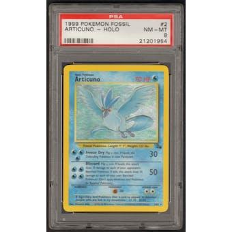 Pokemon Fossil Single Articuno 2/62 - PSA 8