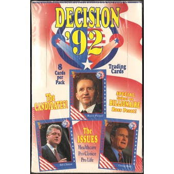 Decision '92 Trading Card Box (1992 AAA)