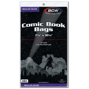 BCW Silver Age Comic Book Bags 100ct