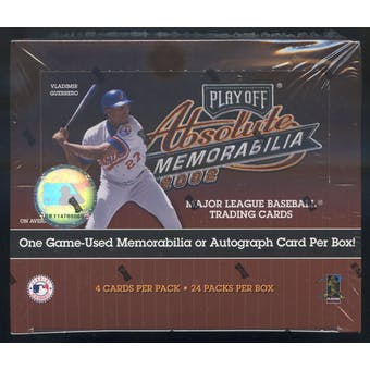 2002 Playoff Absolute Memorabilia Baseball 24 Pack Box