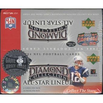 2004 Upper Deck Diamond Collection All-Star Lineup Football 24 Pack Box