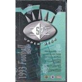 1993 Upper Deck SP Football Hobby Box