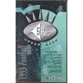1993 Upper Deck SP Football Hobby Box (Reed Buy)