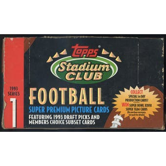1993 Topps Stadium Club Series 1 Football Jumbo Box
