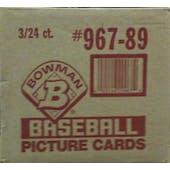 1989 Bowman Baseball 3 Box Rack Case (Reed Buy)