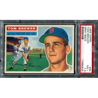 1956 Topps Baseball #34 Tom Brewer PSA 7.5 (NM+) *5605